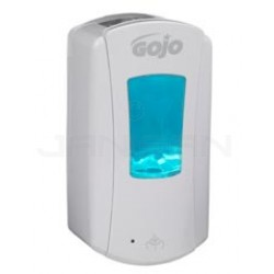 GOJO 1980-04 GOJO LTX-12 1200 ml Touch-Free Foam Soap Dispenser - White with White Insert