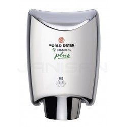 World Dryer Smartdri Plus Automatic Surface Mounted Hand Dryer - Polished Stainless Steel