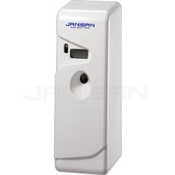 Janisan FP1WH Fully Programmable LCD and LED Automatic Air Freshener Dispenser - White in Color