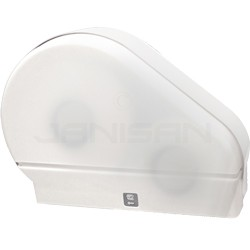 "Palmer Fixture RD0024-03F 9"" Jumbo Tissue Dispenser with 2 1/4"" Stub & 3 3/8"" Adaptors - White Translucent in Color"