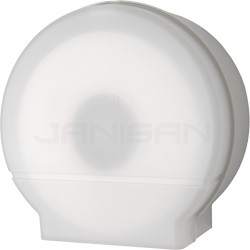 "Palmer Fixture RD0026-03F 9"" Jumbo Tissue Dispenser with 2 1/4"" & 3 3/8"" Core Adaptors - White Translucent in Color"