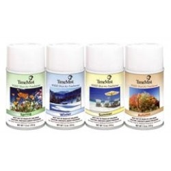 TimeMist 9000 Shot 90 Day Metered Air Freshener Seasonals Kit - 1 case of 4 cans - 7.5 oz. cans - Assorted Fragrances