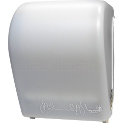 Palmer Fixture TD0201-03 Hands-Free Auto-Cut Roll Towel Dispenser - White Translucent in Color