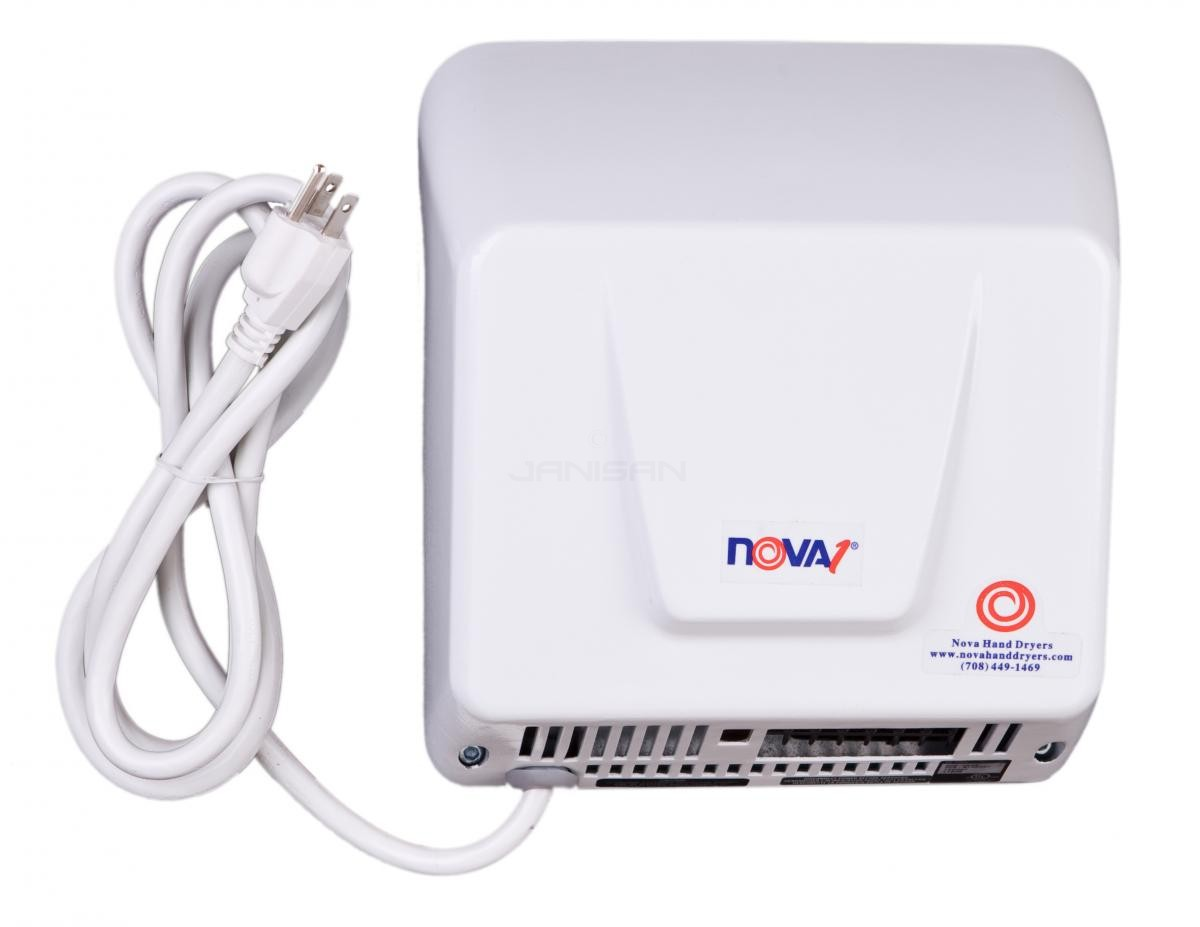 World Dryer Nova 1 Plug In Surface Mounted Hand Dryer White