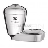 "Technical Concepts TC SaniCell Pipe - Fits 3/4"" Pipe - 5"" H x 5.8"" W x 3.3"" D - Chrome in Color"