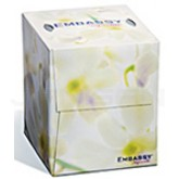 "Kruger Products Embassy Supreme Facial Tissue Cube, 2-Ply, 8.8"" x 7.6"" sheet size - 100 sheets per box - 36 boxes per case - 3600 sheets per case"