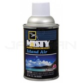 Amrep Misty Premium Metered Air Freshener - 7 oz. can - 1 case of 12 cans - Island Air