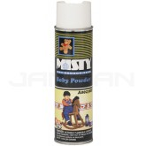 Amrep Misty Premium Hand-Held Space Spray Air Freshener - 10 oz. can - 1 case of 12 cans - Baby Powder