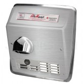 World Dryer AirMax Cast Iron Automatic Recess Mount Hand Dryer - Brushed Stainless Steel
