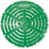 Janisan Anti-Splash Urinal Screens - 1 box of 10 Urinal Screens - Cucumber Melon