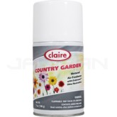 Claire Premium Metered Air Freshener - 1 case of 12 refills - 7 oz. can - Country Garden
