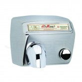 World Dryer AirMax Steel Push-Button Surface Mounted Hand Dryer - Brushed Stainless Steel