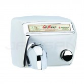 World Dryer AirMax Steel Push-Button Surface Mounted Hand Dryer - Polished Stainless Steel