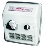 World Dryer AirMax Cast Iron Push-Button Recess Mount Hand Dryer - White