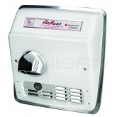 World Dryer AirMax Cast Iron Automatic Recess Mount Hand Dryer - White