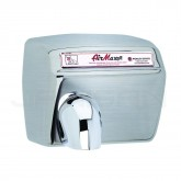 World Dryer AirMax Steel Automatic Surface Mounted Hand Dryer - Brushed Stainless Steel