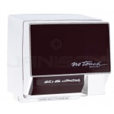 World Dryer No Touch Surface Mounted Hand Dryer - White with Ebony Cover