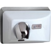 World Dryer Nova 4 Cast Iron Recessed Mounted Hand Dryer - White