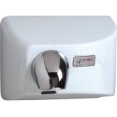 World Dryer Nova 4 Cast Iron Surface Mounted Hand Dryer - White