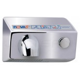 World Dryer Nova 5 Surface Mounted Push-Button Hand Dryer - Brushed Chrome