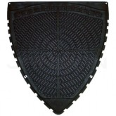 Fresh Products P-Shield Urinal Mat - 1 case of 6 urinal mats - Black in Color