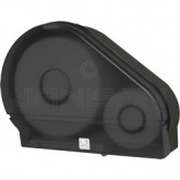 "Palmer Fixture RD0024-02F 9"" Jumbo Tissue Dispenser with 2 1/4"" Stub & 3 3/8"" Adaptors - Black Translucent in Color"
