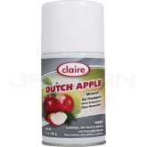 Claire Premium Metered Air Freshener - 1 case of 12 refills - 7 oz. can - Dutch Apple