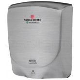 World Dryer VERDEdri Surface Mounted Hand Dryer - Brushed Stainless Steel